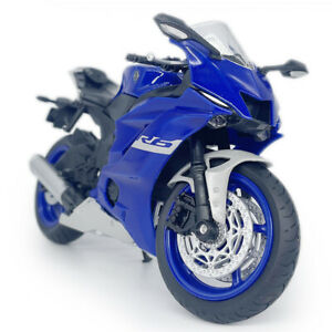 1:12 Scale Yamaha YZF-R6 Motorcycle Model Diecast Motorbike Toy Gift Boys Blue