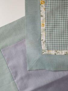 Bellora Italian Decor Pillow Covers (2) Made in Italy Green Cotton