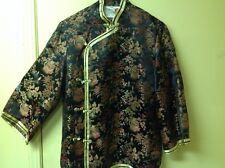 60s Asian Mandarin Collar Peony Brand Shanghai China Size M