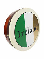 "McNeela 12"" Traditional Irish Flag Celtic Tricolor Bodhran Drum"