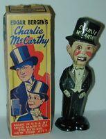 Louis Marx Charlie McCarthy Tin Wind Up Moving Mouth Walker + Original Box 1938