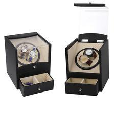 Automatic Watch Winder Display Box Storage 2+2 Mechanical Rotator Case Organizer
