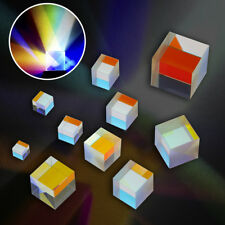 Crystal Optical Glass Triangular Prism for Teaching Light Spectrum Physics PD