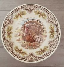 """NEW The Victorian English Pottery Fall Thanksgiving Turkey 10"""" Serving Bowl"""