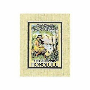Honolulu Hawaiian Mid-Pacific Carnival Vintage Print c.1915 from Hawaii