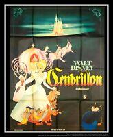 CINDERELLA Walt Disney B 4x6 ft French Grande Movie Poster Rerelease 1958