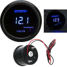 "Black 2"" 52mm Blue Digital LED Electronic Volt Gauge Meter For Car HOTSYSTEM"