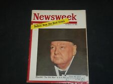 1953 OCTOBER 26 NEWSWEEK MAGAZINE - WINSTON CHURCHILL IS IN A HURRY - NW 704