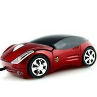 RED New Car Shape USB 3D Optical оптический Mouse Mice мышь For PC/Laptop Trendy