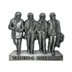 Beatles Fab 4 Statue Metal Fridge Magnet