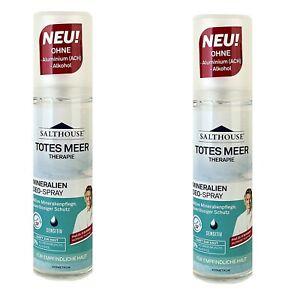 2x Salthouse Totes Meer Therapie Mineralien Deo-Pump Spray Zerstäuber , 2x75ml