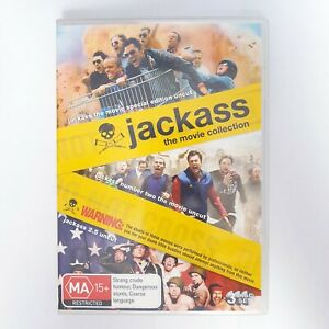 Jackass The Movie Collection DVD Region 4 AUS Free Postage - Comedy
