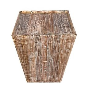 Distressed Reclaimed cone shaped 18 inch Square Side table | Accent Table | End