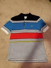 Lacoste Mens LIVE Slim Fit Piet Mondrian Design Polo Shirt sz 4 sz M