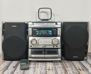 Aiwa Digital Audio System CX-NMT920 Cassette, Radio, 3 Disc Changer W/Remote
