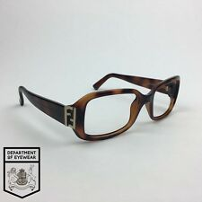 FENDI eyeglass TORTOISE WRAP AROUND RECTANGLE frame Authentic. MOD: FS5235