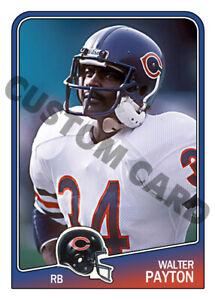 1988 Walter Payton Custom Football Card