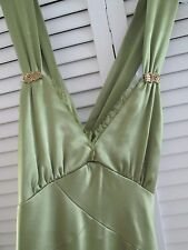 """""""Cache"""" Green Gorgeous Sexy/evening/party Dress w/ Cross Open Back.Size 4"""