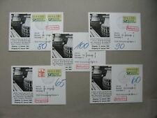 GERMANY BRD, 5x card last day postal coding-machine Pforzheim 1981, postage due
