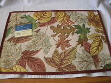 Set Of 4 Fall Leaves 13x18 Tapestry Placemats