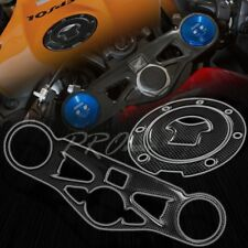 Handle Yoke Cover+Fuel Cap Gel Protector for 08-16 CBR1000RR Carbon Fiber Look