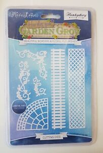 HUNKYDORY MOONSTONE BEAUTIFUL BORDERS AND FLORAL FLOURISHES DIE SET BNIP