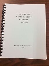 Swain County Marriages 1917-1926