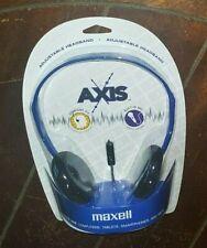Maxell Adjustable Headphones with Mic ~BLUE~ Item #AX-ROYB 199803