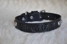 "NEW Leather Dog Custom Collar Personalized FREE  1"" Wide Color Choice"