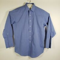 Brooks Brothers Mens Dress Shirt Button Up Long Sleeve 100% Cotton Size 16/32