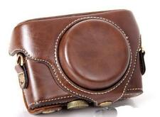 Leather camera case bag For Sony Cyber-shot  DSC-RX100M4 RX100IV Dark brown