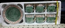 12 Pcs Italian Design Ceramics Turkish Arabic Coffee Expresso Cups & Saucers tea