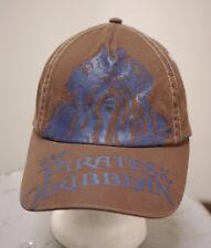 Disney Store Pirates Of The Caribbean 100% Cotton Brown Baseball Cap Hat