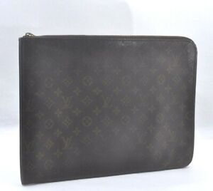 Authentic Louis Vuitton Monogram Poche Documents Brief Case LV A0287