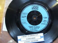 "FOREIGNER 1984 I WANT TO KNOW WHAT LOVE IS 7"" 45 rpm SINGLE VINYL RECORD DJ"