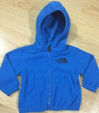 The North Face Full Zip Fleece Baby Toddler Size 3-6 Months Blue