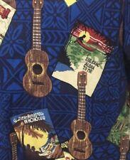 Nani Hawaiian Medium M Shirt Ukulele She Sang Aloha Little Rendezvous Honolulu