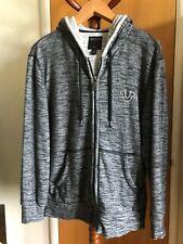 Men's Hoodie Jacket, True Religion, Size M, Black, Excellent Condition