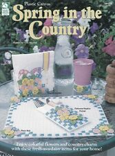 SPRING IN THE COUNTRY Plastic Canvas Booklet - by Vicki Blizzard - Home Decor!