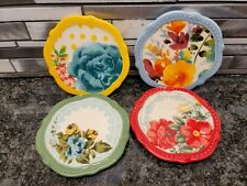New Pioneer Woman Stoneware  4 Piece Coaster Set