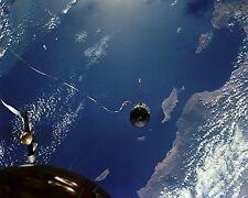 AGENA TARGET DOCKING VEHICLE IS TETHERED TO GEMINI 11 - 8X10 NASA PHOTO (EP-794)