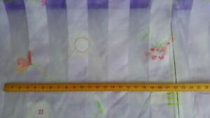 purple patterned  voile fabric