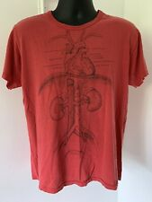 Vintage 70s Leslie Arwin Red Anatomy T-Shirt Single Stitch S/M