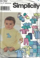 Simplicity Baby Infant Layette PJs Tops Pants Bibs Hat #9782 Sizes XXS - M Uncut