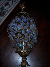 Vtg Large Heavy Swag Aurora Borealis Crystal Chandelier Light Hollywood Regency