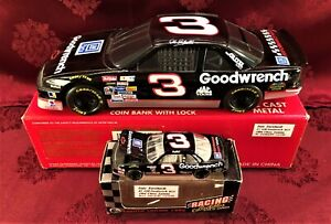 DALE EARNHARDT #3 GM Goodwrench Services BGN 1994 RCCA 1/24 Bank & 1/64 Car SET