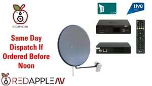 Complete Italian TivuSat Receiver & Activated TivuSat Card 60cm Dish Kit