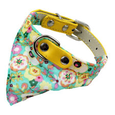 Spring Floral Pastel Bandana Dog Collar w/ D-Ring Small-Medium Breed