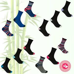 Ladies Multipacks BAMBOO Socks Pack Pairs Elastic Gentle Soft Grip Antibacterial