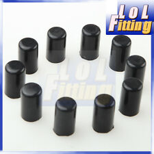"10PCS 8mm 5/16"" Silicone Blanking Cap Intake Vacuum Hose End Bung Plug Black"